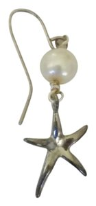 Other Single Silver Starfish Dangle Earring