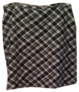 Eddie Bauer Skirt Black And White Plaid