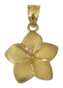14K Gold Hawaiian Flower Pendant