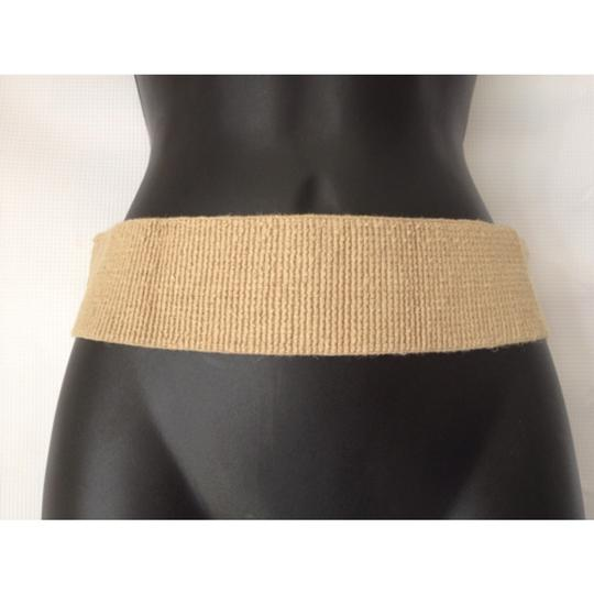 BCBGeneration Beige stretch belt vegan leather buckle size xs/s extra small/small Image 2