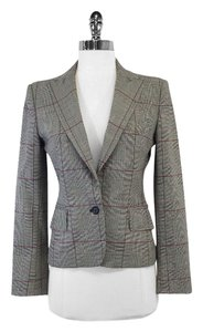 Dolce&Gabbana Multi Color Hounstooth Wool Blazer