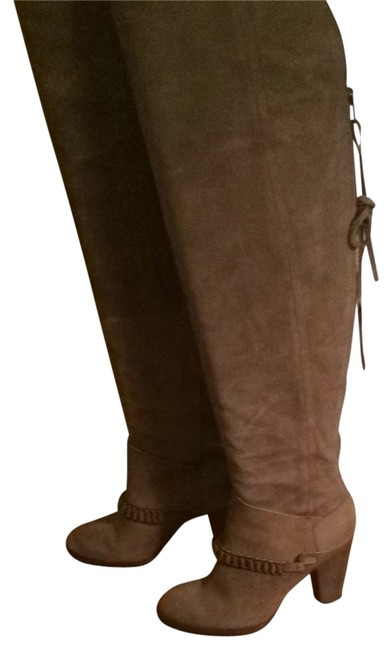 Item - Taupe Over-the-knee Cowgirl Boots/Booties Size US 6.5 Regular (M, B)