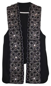 Twelfth St. by Cynthia Vincent Embroidered Textured Luxury Vest