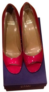 Stuart Weitzman Red/gold Pumps