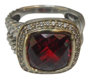 David Yurman NEW David Yurman Albion Ring with Garnet and Diamonds with 18K Gold size 7