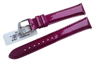 Michele Michele 16mm Berry Patent Leather Watch Band Strap