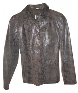 B Lucid Leather Black,brown,grey Leather Jacket