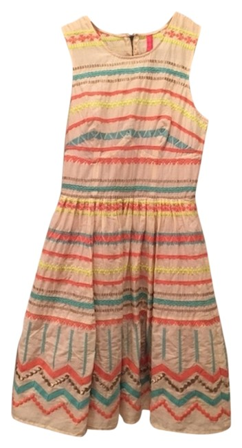 Plenty by Tracy Reese short dress Cream with multi-colored stripes Plentybytracyreese Fitandflare on Tradesy Image 1