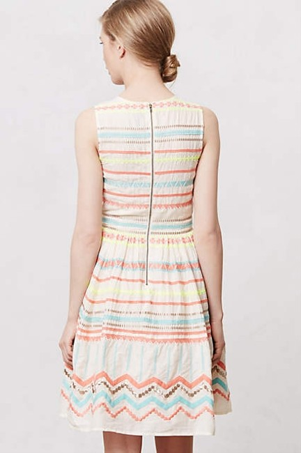 Plenty by Tracy Reese short dress Cream with multi-colored stripes Plentybytracyreese Fitandflare on Tradesy Image 4