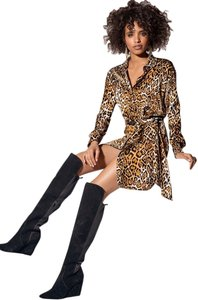 Boston Proper short dress Leopard Print on Tradesy
