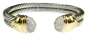 David Yurman DAVID YURMAN 10MM DIAMOND CAPRI CUFF BRACELET