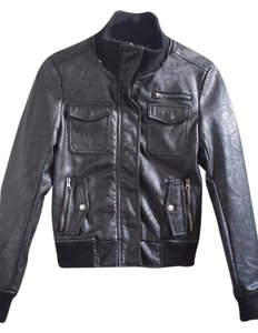 Buffalo David Bitton Moto Motorcycle Faux Leather Motorcycle Jacket