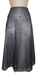 Express Netted Beaded Net Skirt Black