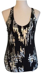 Sheri Bodell Racerback Tank Sequins Top Blac