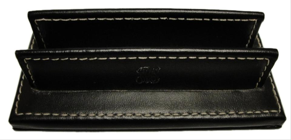 Coach black leather business card holder display tradesy coach coach business card holder display colourmoves