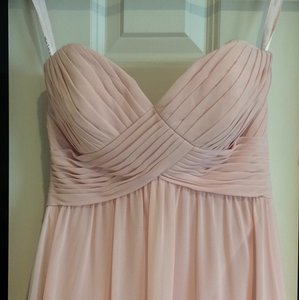 Mori Lee Blush Chiffon Feminine Bridesmaid/Mob Dress Size 0 (XS)