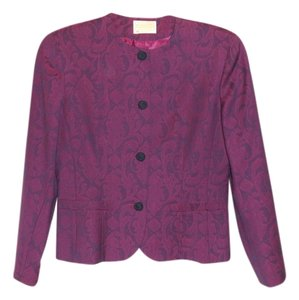 Pendleton 100% Virgin Wool Sz 8 Plum Floral Print Jacket Purple Blazer