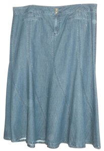 C. J. BANKS Denim Maxi Skirt BLUE DENIM