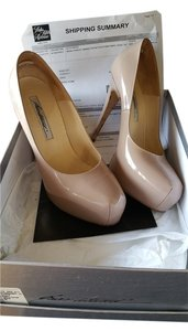 Brian Atwood Quality Leather Platform nude Pumps