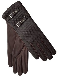 Hilts-Willard Hilts-Willard Ladies' Woven Lambskin Gloves, Dark Brown, S