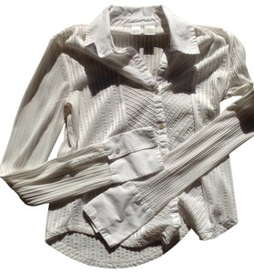 DKNY Button Down Shirt white with white stripe