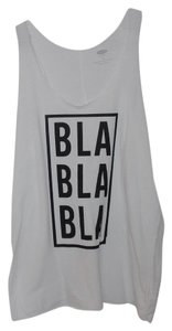 Old Navy Graphic Racerback New Top White