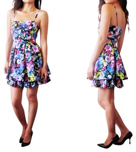 H&M short dress Floral Strapless on Tradesy