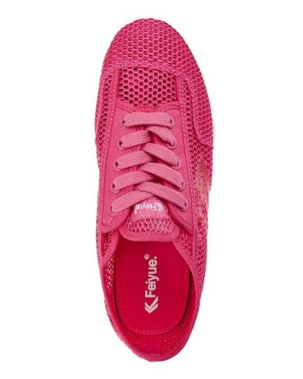Feiyue Womens Mesh Sneakers Fuchsia Athletic Image 2