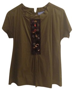 Simply Vera Vera Wang Top Army Green