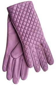 Hilts-Willard Quilted Sheepskin Gloves, Lavender, S