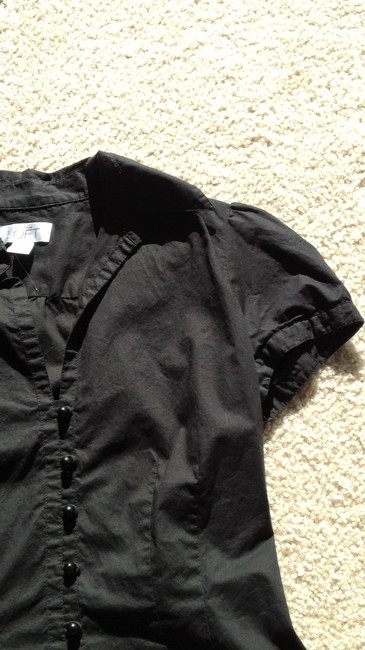 Ann Taylor LOFT Button Down Shirt black