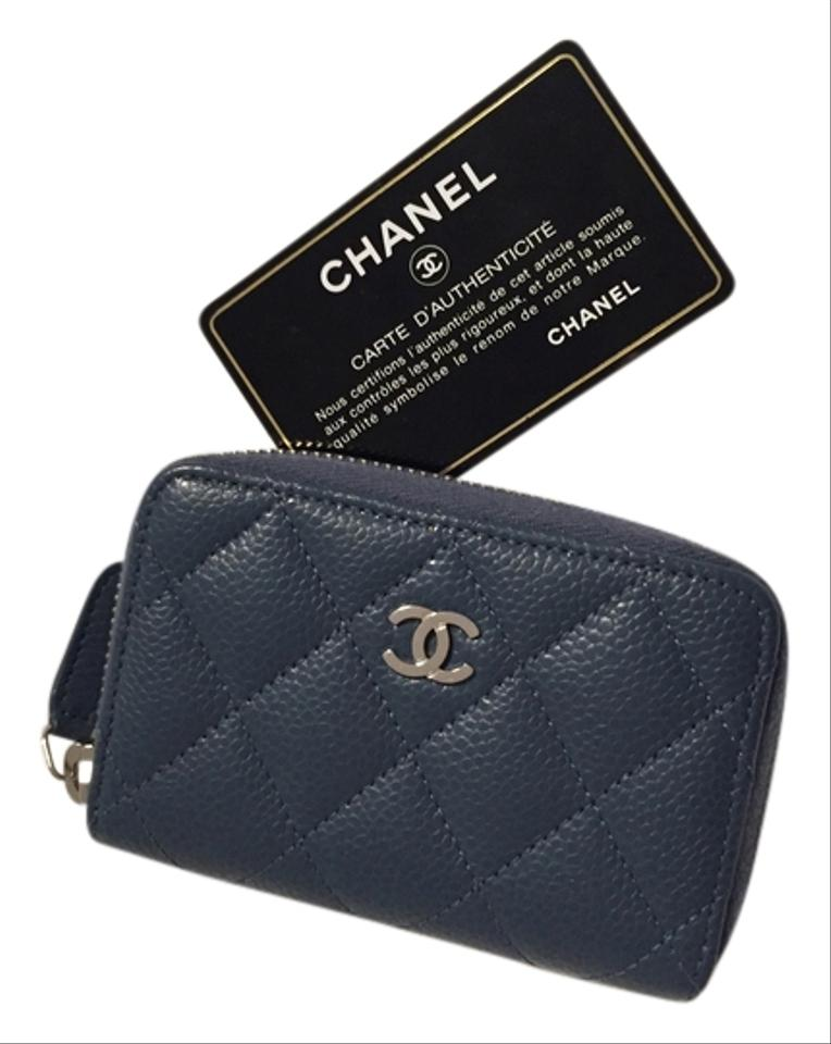 d14147830c33 Chanel CHANEL Zippy Card Case Coin Purse Blue Caviar SHW Image 0 ...