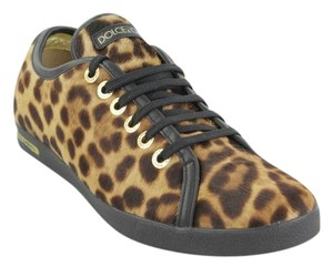 Dolce&Gabbana Dolce & Gabbana Calf Hair Print Sneakers Leather Leopard Athletic