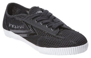 Feiyue Womens Mesh Sneakers Black Athletic