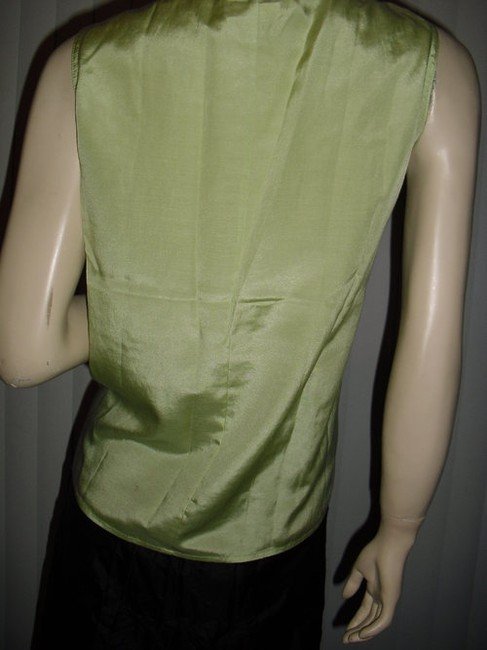 Diane Gilman Button Down Shirt yellow and green ombre Image 4