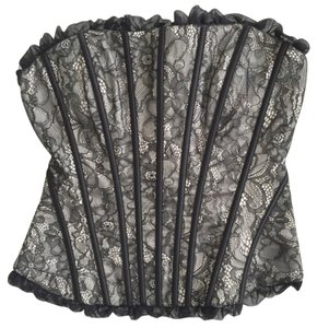 bebe Top Black Lace