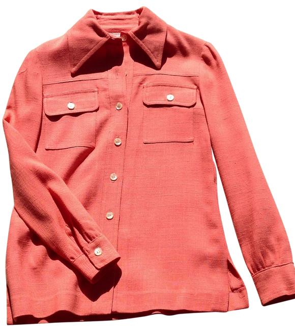 Preload https://img-static.tradesy.com/item/116132/jones-new-york-coral-vintage-of-linen-button-up-tunic-button-down-top-size-8-m-0-0-650-650.jpg