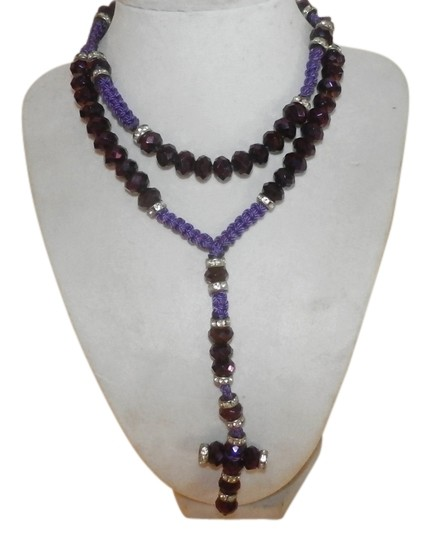 Other NEW NO TAGS Rosary PURPLE HANDMADE Image 0