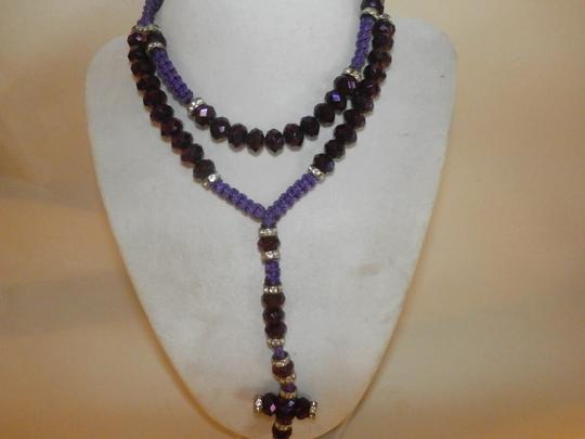 Other NEW NO TAGS Rosary PURPLE HANDMADE Image 2