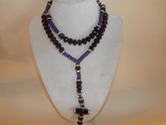 Other NEW NO TAGS Rosary PURPLE HANDMADE Image 3