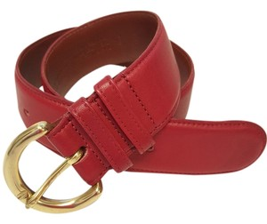 Coach Coach Red Leather Belt