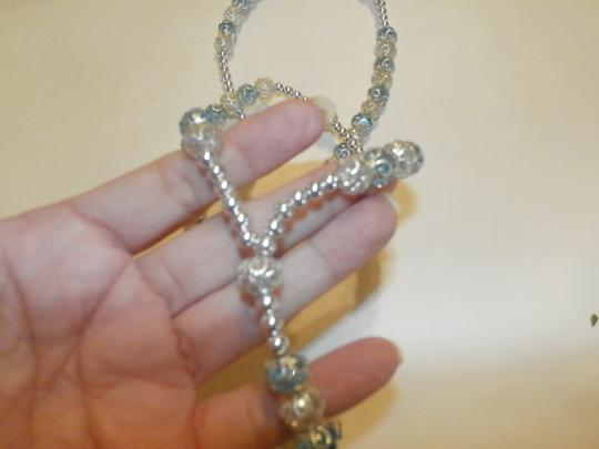 Other NEW BEAUTIFUL NO TAGS Rosary BLUE/SILVER HANDMADE Image 2
