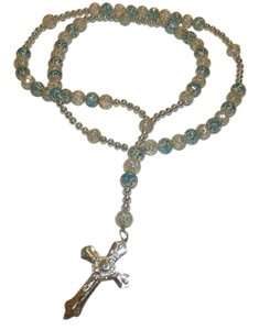 Other NEW BEAUTIFUL NO TAGS Rosary BLUE/SILVER HANDMADE
