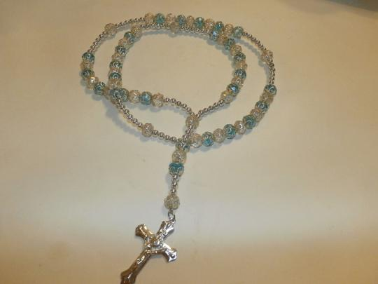 Other NEW BEAUTIFUL NO TAGS Rosary BLUE/SILVER HANDMADE Image 1