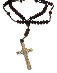 Other NEW BEAUTIFUL NO TAGS Rosary PURPLE SILVER CROSS HANDMADE
