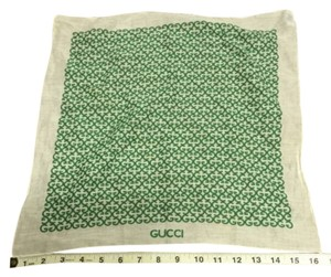 Gucci 100% Cotton Made in Italy Green Gucci Hankerchief or neck Scarf