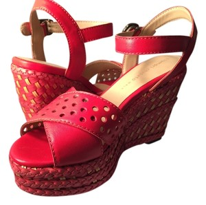 Tsumori Chisato Red with Beige Wedges