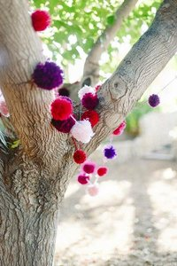 Handmade Pom Poms For Garland Or Aisle Decor