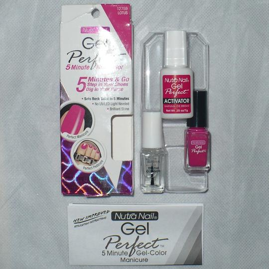 """Nutra Nail Nutra Nail Gel Perfect 5-Minute Gel-Color Manicure in """"Lotus"""" Hot Pink"""
