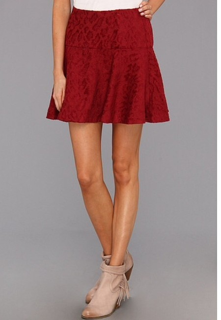 Free People Skirt Cranberry